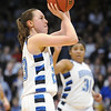 Broomfield's Sarah Hix shoots the ball against Longmont during the class 4A championship game at the Coors Events Center in Boulder on Friday.<br /> <br /> <br /> March 12, 2010<br /> Staff photo/David R. Jennings