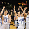 The Eagles celebrate their victory over Longmont' for the class 4A championship at the Coors Events Center in Boulder on Friday.<br /> <br /> <br /> March 10, 2010<br /> Staff photo/David R. Jennings