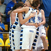 The Lady Eagles celebrate as victory against Longmont approaches for the class 4A championship at the Coors Events Center in Boulder on Friday.<br /> <br /> <br /> March 12, 2010<br /> Staff photo/David R. Jennings