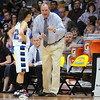 Broomfield's head coach Mike Croell talks with Autumn Chase during the game against Longmont' for the class 4A championship at the Coors Events Center in Boulder on Friday.<br /> <br /> <br /> March 12, 2010<br /> Staff photo/David R. Jennings