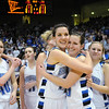 Katie Nehf, center left, hugs Millie Reeves after Broomfield's victory over Longmont to win their 4th straight  the class 4A championship at the Coors Events Center in Boulder on Friday.<br /> <br /> <br /> March 10, 2010<br /> Staff photo/David R. Jennings