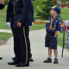 Cub Scout Charlie Burke, 6, watches the combined honor guard prepares for Thursday's 8th Annual Flag Retirement Ceremony at the Community Park Amphitheater.<br /> <br /> June 14, 2012 <br /> staff photo/ David R. Jennings