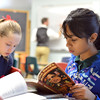 "Sneha Varanasi looks for an answer to a question during 7th grade literature class studying the book ""The Devil's Arithmetic"" at the Broomfield Academy on Thursday.<br /> January 10, 2013<br /> staff photo/ David R. Jennings"