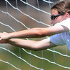 Jessi Gaisbauer, 14, reaches for the ball during the keeper training at the Broomfield Blast technical touch camp at the Broomfield County Commons Park on Wednesday.<br /> <br /> July 22,2009<br /> staff photo/David Jennings
