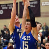 Broomfield's Evan Kihn and Dan Perse rebound the ball against Silver Creek during Friday's game at Silver Creek High.<br /> January 11, 2013<br /> staff photo/ David R. Jennings