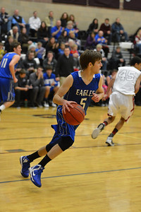 Broomfield's Tarren Macrae takes the ball downcourt against Silver Creek during Friday's game at Silver Creek High. January 11, 2013 staff photo/ David R. Jennings