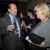 Tom Fahrenbruch, left, visits with Carina Martin during the Broomfield Chamber of Commerce annual dinner at the Renaissance Boulder Flatiron Hotel on Thursday.<br /> <br /> January 27, 2011<br /> staff photo/David R. Jennings