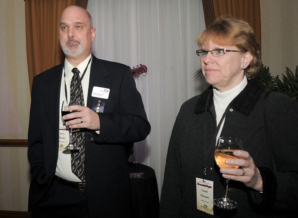 Jerry and Carol Chesser during the Broomfield Chamber of Commerce annual dinner at the Renaissance Boulder Flatiron Hotel on Thursday.<br /> <br /> January 27, 2011<br /> staff photo/David R. Jennings