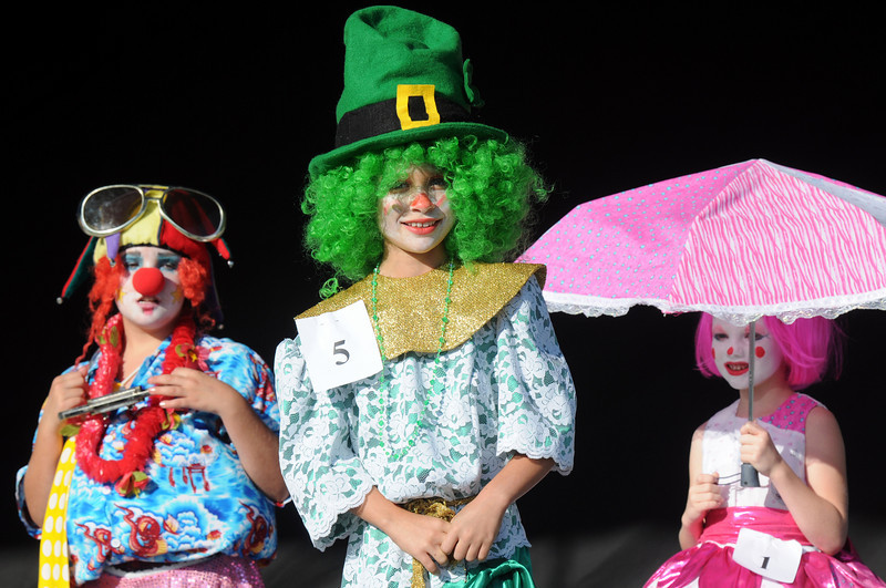 Shannon Ireland, 9, center, in the Optimist's Clown Contest during Broomfield Days on Saturday.<br /> <br /> Sept. 19, 2009<br /> Staff photo/David R. Jennings