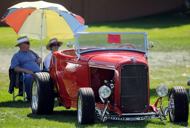 Jim Johnson's Ford Roadster in the car show during Broomfield Days at Midway Park on Saturday.<br /> <br /> Sept. 19, 2009<br /> Staff photo/David R. Jennings