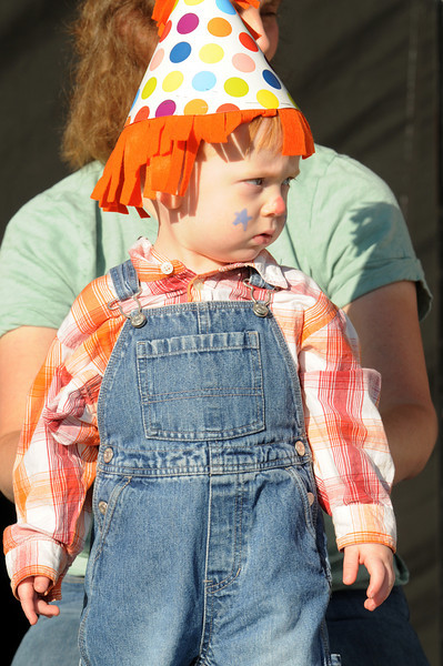 Alex Kirk, 16 months-old, in the Optimist's Clown Contest during Broomfield Days at Midway Park on Saturday.<br /> <br /> Sept. 19, 2009<br /> Staff photo/David R. Jennings
