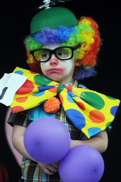 Dennis Smith, 4, competes in the Clown Contest at Broomfield Days on Saturday.<br /> <br /> September 18, 2010<br /> staff photo/David R. Jennings