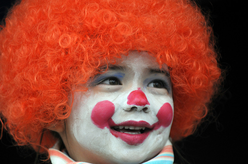 Calli Ellis, 4 1/2, smiles while competing in the clown contest at Broomfield Days on Saturday.<br /> <br /> September 18, 2010<br /> staff photo/David R. Jennings