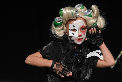 Shannon Ireland, 11, dressed a Lady Gaga for the Optimist Clown Contest  during Broomfield Days at Midway Park on Saturday. September 17, 2011 staff photo/ David R. Jennings