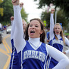 Broomfield High cheerleader Chelsea Reynolds marches in the parade during Broomfield Days on Saturday.<br /> September 17, 2011<br /> staff photo/ David R. Jennings