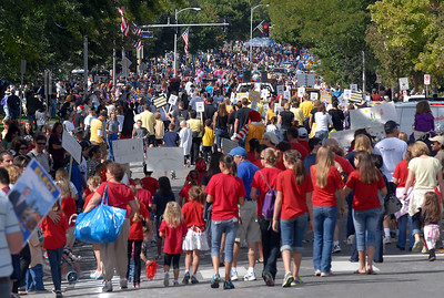 Midway was crowed with parade participants a watchers during Broomfield Days on Saturday. September 17, 2011 staff photo/ David R. Jennings