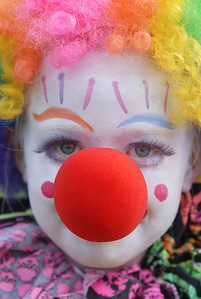 Zoie Svensk, 8, entered the Optimist Clown Contest during Broomfield Days at Midway Park on Saturday. September 17, 2011 staff photo/ David R. Jennings