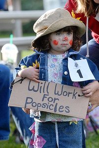 Trinity Herrera, 2, was second in her age group of the Optimist Clown Contest during Broomfield Days at Midway Park on Saturday. September 17, 2011 staff photo/ David R. Jennings