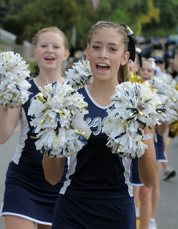 Karley Neal with Legacy High Poms marches in the Optimist Parade  during Broomfield Days on Saturday.<br /> September 17, 2011<br /> staff photo/ David R. Jennings