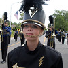 Drum major Paige Becker leads the Legacy Marching Band down Midway Boulevard during the Optimist Parade at Broomfield Days on Saturday.<br /> September 17, 2011<br /> staff photo/ David R. Jennings