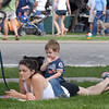 Charlotte Syre and her son Izaak, 2 1/2,  rest after watching the parade during Broomfield Days at Midway Park on Saturday.<br /> September 17, 2011<br /> staff photo/ David R. Jennings