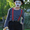 Kevin Peacock, 10, a mime clown for the Optimist Clown Contest during Broomfield Days at Midway Park.<br /> September 15, 2012<br /> staff photo/ David R. Jennings
