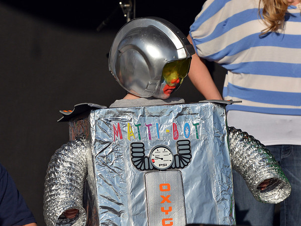 Mattison Verseman, 4, dressed as a clown robot for the Optimist Clown Contest during Broomfield Days at Midway Park.<br /> September 15, 2012<br /> staff photo/ David R. Jennings
