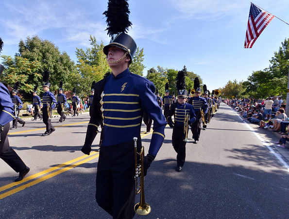 Zach Brator marches with the Legacy High School Marching Band during the parade at Broomfield Days.<br /> September 15, 2012<br /> staff photo/ David R. Jennings