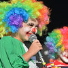 Callia Ellis, 6, tells a joke for her talent for the Optimist Clown Contest during Broomfield Days at Midway Park.<br /> September 15, 2012<br /> staff photo/ David R. Jennings<br /> <br /> Callia Ellis, 6, tells a joke at the Optimist Clown Contest
