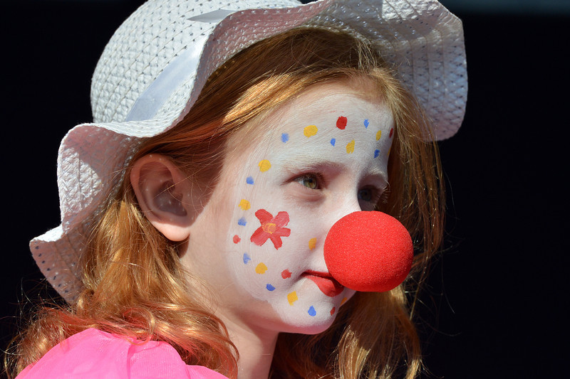 Laura Kohler. 8 1/2 dressed as a pink clown clown for the Optimist Clown Contest at Broomfield Days.<br /> September 15, 2012<br /> staff photo/ David R. Jennings