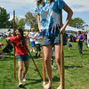 Layla Clark, 14, tries walk on stilts during Broomfield Days at Midway Park.<br /> September 15, 2012<br /> staff photo/ David R. Jennings