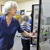 Betty Elder looks through a display of photographs and newspaper stories during the Broomfield Depot Museum open house on Saturday.<br /> <br /> June23, 2012<br /> staff photo/ David R. Jennings