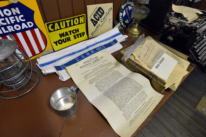 Railroad memorabilia on display at the Broomfield Depot Museum open house on Saturday.<br /> <br /> June23, 2012<br /> staff photo/ David R. Jennings