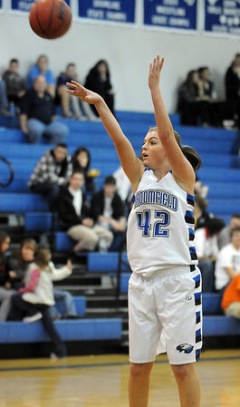 Broomfield's Renae Waters shoots to the basket during Friday's game against Fossil Ridge at Broomfield.<br /> <br /> <br /> December 18, 2009<br /> Staff photo/David R. Jennings