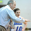 Broomfield's coach Mike Croell talks to Brianna Wilber's xxx during Saturday's state 4A playoff game against Sierra at Broomfield.<br /> February 24, 2012 <br /> staff photo/ David R. Jennings