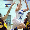 Broomfield's Katie Croell goes to the basket against Sierra during Saturday's state 45A playoff game at Broomfield.<br /> February 24, 2012 <br /> staff photo/ David R. Jennings