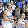 Broomfield's Meagan Prins cheers after the Eagles socred against Sierra during Saturday's state 4A playoff game at Broomfield.<br /> February 24, 2012 <br /> staff photo/ David R. Jennings