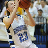 Broomfield's Sarah Hix goes for a layup against Pueblo East during Saturday's Great 8 4A game at the Colorado School of Mines Lockridge Arena.<br /> <br /> March 6, 2010<br /> Staff photo/David R. Jennings