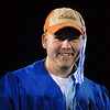 Richard Olson wore his own cap with tassel attached for Broomfield High's graduation at Elizabeth Kennedy Stadium on Saturday.<br /> May 22, 2010<br /> Staff photo/ David R. Jennings