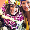 Katalena Laufasa-Duncan, wearing Hawaiian Leis from her family, poses with Meagan Prins after Saturday's Broomfield High School Commencement at the 1stBank Center.<br /> <br /> May 19, 2012 <br /> staff photo/ David R. Jennings