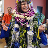 Katalena Laufasa-Duncan wears Hawaiian Leis from her family after Saturday's Broomfield High School Commencement at the 1stBank Center.  Laufasa-Duncan is going to the University of Hawaii.<br /> <br /> May 19, 2012 <br /> staff photo/ David R. Jennings