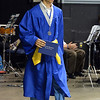 Ross Donaldson wears his Honor Society sash as a belt wile receiving   his diplima during Saturday's Broomfield High School Commencement at the 1stBank Center.<br /> <br /> May 19, 2012 <br /> staff photo/ David R. Jennings