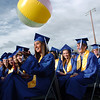 A beach ball flies over the graduates during Saturday's Broomfield High School graduation ceremony at Elizabeth Kennedy Stadium.<br /> May 21, 2011<br /> staff photo/David R. Jennings
