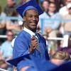 Louis Ward smiles after receiving his diploma during Saturday's Broomfield High School graduation ceremony at Elizabeth Kennedy Stadium.<br /> May 21, 2011<br /> staff photo/David R. Jennings