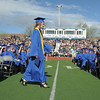 Katie Vuletich walks across the center isle after receiving her diploma during Saturday's Broomfield High School graduation ceremony at Elizabeth Kennedy Stadium.<br /> May 21, 2011<br /> staff photo/David R. Jennings