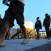 People walk through the courtyard where the wagon train roundup and fire pit for S'mores and marsh mallows during the public tour of Broomfield High's JAM,  Just After Midnight , at the school on Saturday. <br /> <br /> April 28, 2012 <br /> staff photo/ David R. Jennings