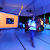 People walk through the ghost town laser tag room during the public tour of Broomfield High's JAM,  Just After Midnight , at the school on Saturday. <br /> <br /> April 28, 2012 <br /> staff photo/ David R. Jennings