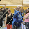 Alyssa Kimber, 15, tries using a lasso for  calf roping during the public tour of Broomfield High's JAM,  Just After Midnight , at the school on Saturday. <br /> <br /> April 28, 2012 <br /> staff photo/ David R. Jennings