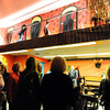 People look at the dane hall girls on the balcony of the Deadwood Saloon room during the public tour of Broomfield High's JAM,  Just After Midnight , at the school on Saturday. <br /> <br /> April 28, 2012 <br /> staff photo/ David R. Jennings