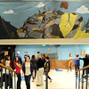 A mural of mining at the entrance to the putt-putt golf course during the public tour of Broomfield High's JAM,  Just After Midnight , at the school on Saturday. <br /> <br /> April 28, 2012 <br /> staff photo/ David R. Jennings